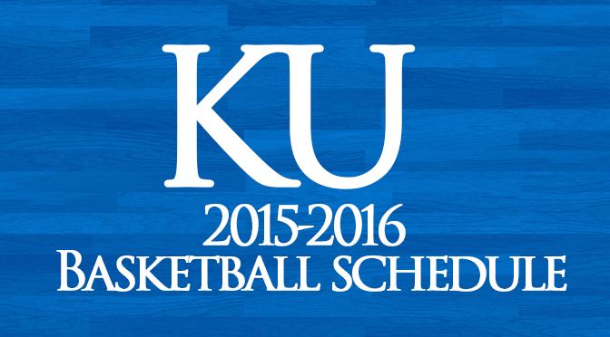 KU Bball 2015-16 Schedule